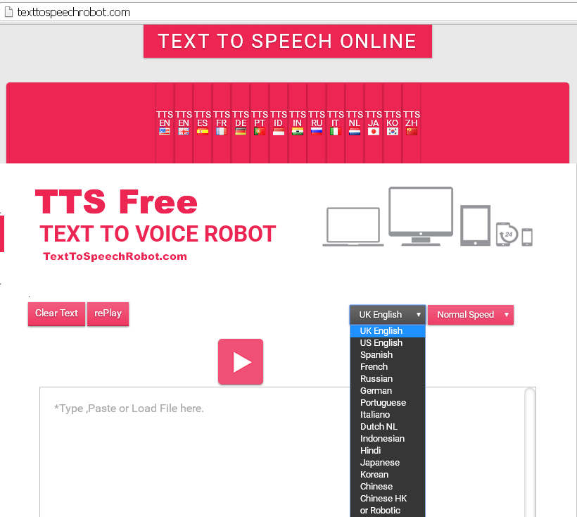 Text To Speech Free Online.